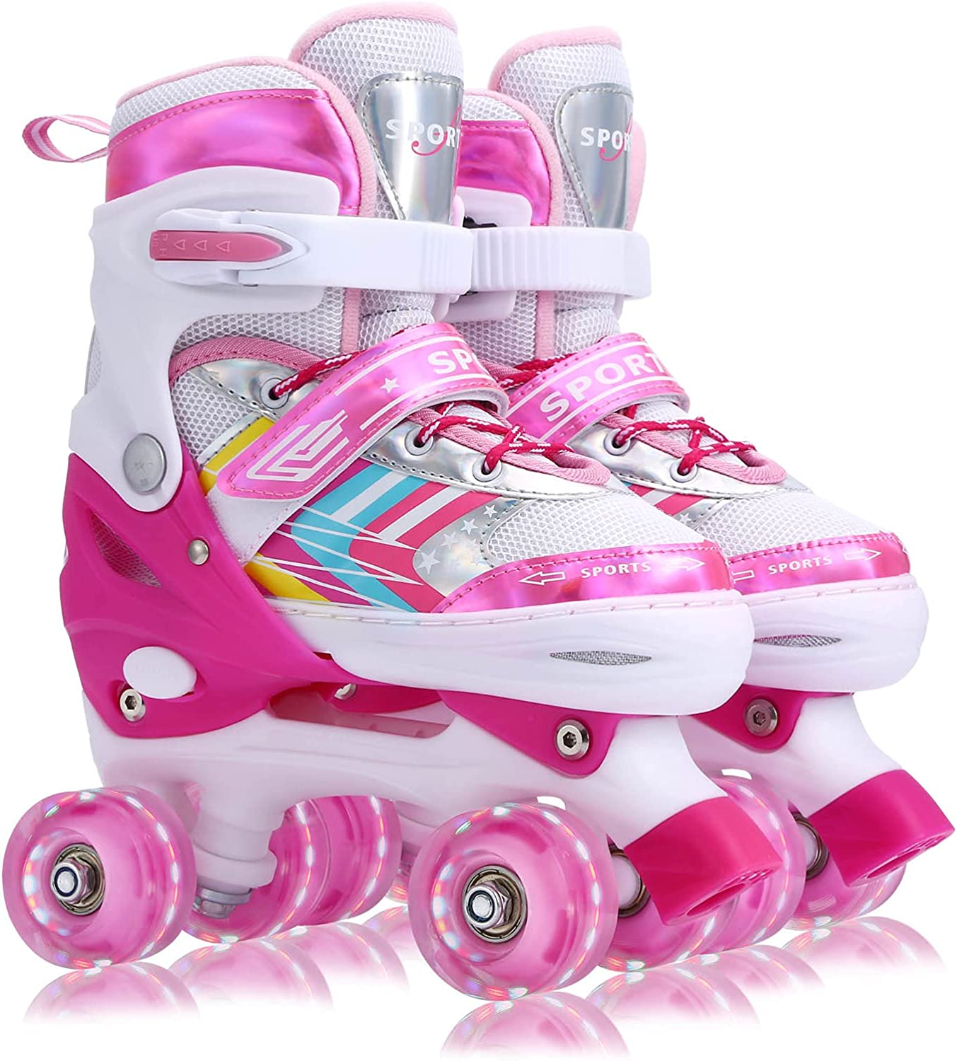 Roller Skates for Kids Girls Boys Size Adjustable Direct stock discount 4 S Beginners Max 88% OFF
