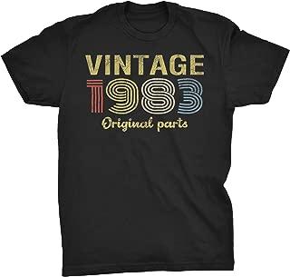 36th Birthday Gift T-Shirt - Retro Birthday - Vintage 1983 Original Parts