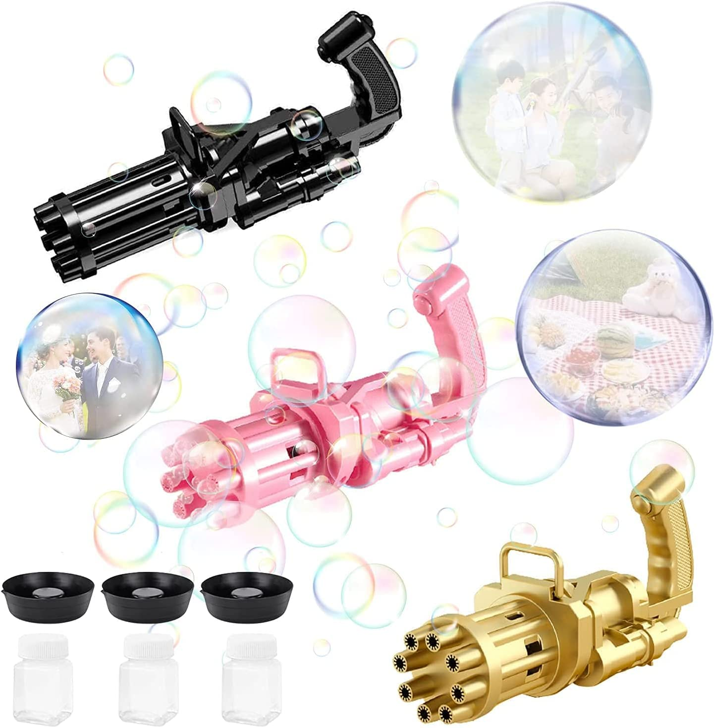 Gatling Bubble Machine Gun 2021 All items free shipping ABtakkat 8 Electri Inexpensive Holes Newest