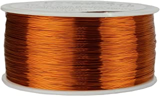 TEMCo 30 AWG Copper Magnet Wire - 1 lb 3132 ft 200°C Magnetic Coil Winding