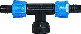 WATTS AFT12 ANKA x 1/2 in. Female NPT Thread Fiberglass Reinforced Nylon Tee, Blue, Black