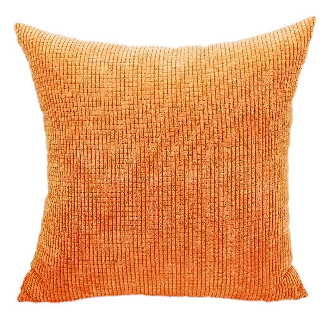 失敗汚れた精緻化多彩 枕カバー ピローケース コーンの縞 ソファ枕カバー 車枕カバー 上質なやさしさと肌ざわり実用 ギフト 全11色選べ - オレンジ, 45 * 45センチメートル