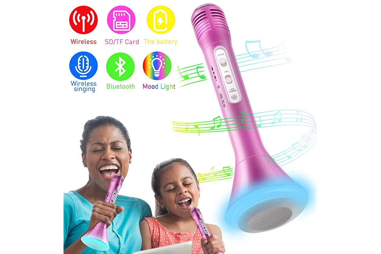 Kids Echo Microphone Mike Mic Voice Changer Toy Birthday Party Song Drama Play