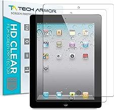 Tech Armor iPad Screen Protector, Anti-Glare/Anti-Fingerprint Apple iPad 4 / 3 / 2 / 1 [NOT IPAD AIR] Film Screen Protector [2-Pack]