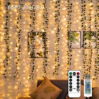 Twinkle Lights,33ft 200LED Fairy Lights with Remote USB Powered,Decorative Lights for Boho Decor Aesthetic Room Decor Cute...