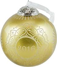 Hallmark Keepsake 2016 Christmas Commemorative Gold Glass Ball Ornament