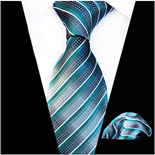 MOHSLEE Men Yellow Suit Tie Handkerchief Formal Necktie & Pocket Square Gift Set