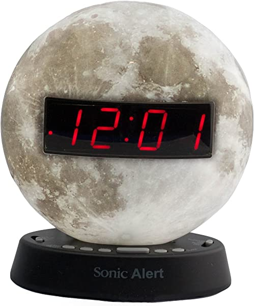 The Sonic Glow By Sonic Alert Extra Loud Themed Recordable Alarm Clocks Moon