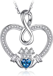 925 Sterling Silver Cubic Zirconia Cat Face Heart Cats Mother and Child Pendant Necklace 18 Inches Box Chain