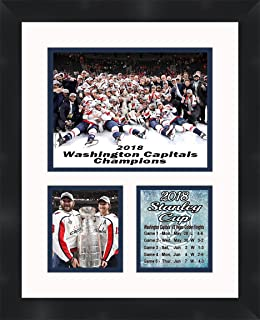 Alex Ovechkin and Nicklas Backstrom Washington Capitals 2018 Stanley Cup Champions Framed 11 x 14 Matted Collage Framed Photos Ready to hang