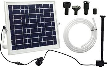 Ntsevsun Solar Fountain Pump, 7.2W Solar Water Fountain Pump for Birdbath, Waterfall, Pond, Lawn and Garden Decoration, with 6.6 FT Extension Hose, Without Battery