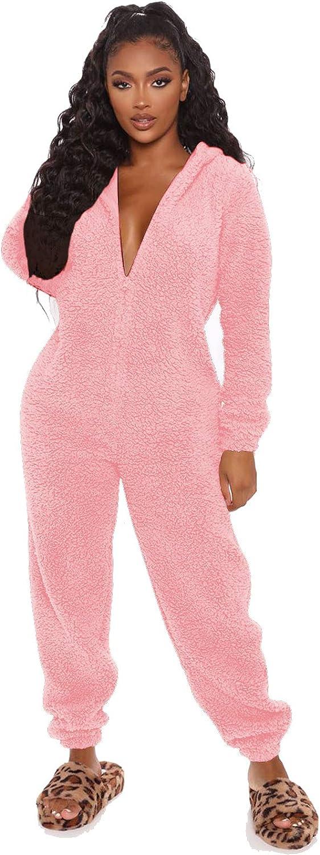 MESLIMA Women Fleece Pajama Suit Sleeve Ranking TOP6 Cute Hooded Long Popular Zipper