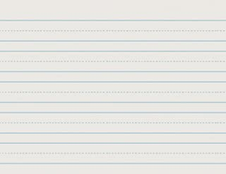 School Smart Skip-A-Line Ruled Writing Paper, 1 Inch Ruled Long Way, 11 x 8-1/2 Inches, Pack of 500