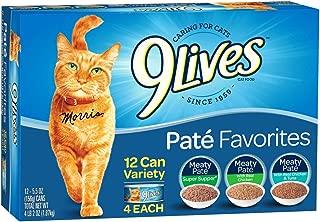9Lives Paté Favorites Wet Cat Food Variety Pack, 5Oz Cans (Pack Of 12), Pack