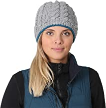 TrailHeads Women's Cable Knit Beanie with Fleece Lining | Winter Hat