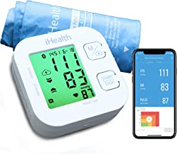 "Blood Pressure Monitor, iHealth Bluetooth Upper Arm Blood Pressure Monitor Cuff & Pulse Rate Monitoring Meter with Cuff Size 8.7""-16.5"", App-Enabled Smart Blood Pressure Machine for iOS and Android"