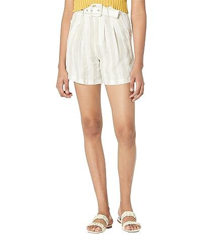Blank NYC Stripe Long Linen Shorts