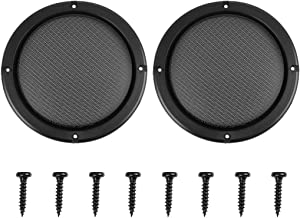 X AUTOHAUX 2pcs Grill Cover 6.5 inches MeshProtector Car Speaker Cover Woofer Subwoofer Grill
