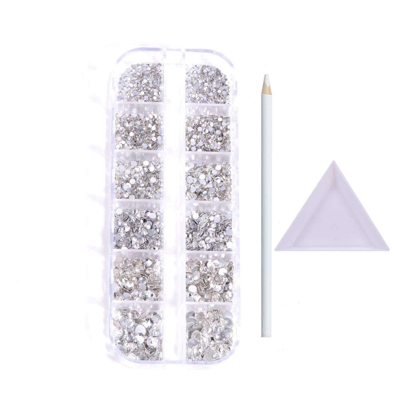 BLINGINBOX Nail Art San Jose Mall Rhinestones 2100pcs Boxes Glass Multi-size Spring new work 1
