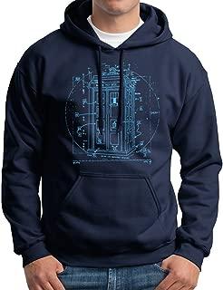 Police Call Box Hoodie Vitruvian Da Vinci Hooded Sweatshirt