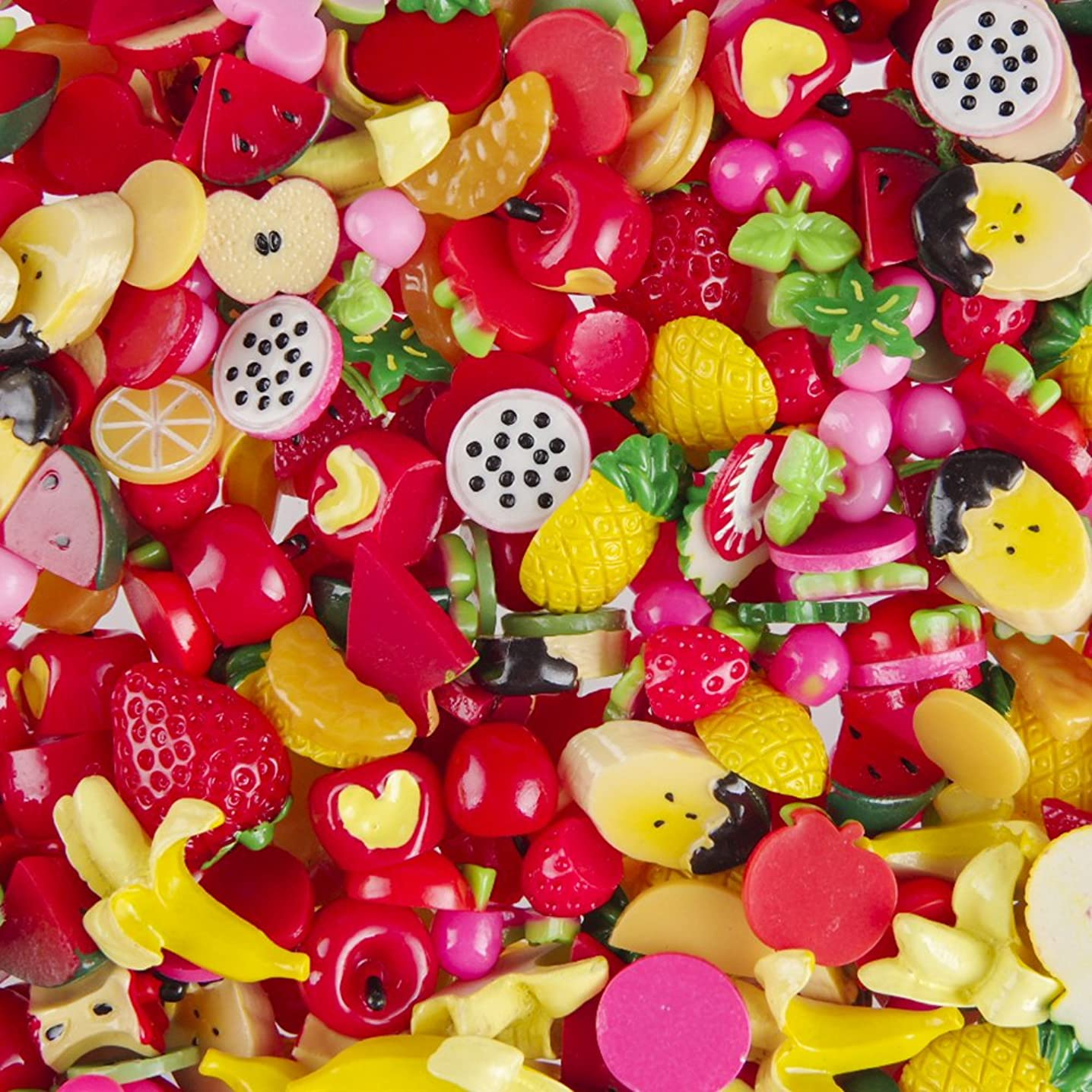 Incredible art Pieces Mixed lot Fruit Resin Flatback cute Decoden Pieces,20pc per packet