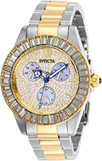 Women's Angel Quartz Watch with Stainless Steel Strap, Two Tone, 20 (Model: 28447)