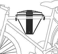 Relaxdays Fietshouder voor 1-2 fietsen, fietshouder voor wandmontage max. 50 kg, HxBxD 32 x 30 x 52 cm, zwart