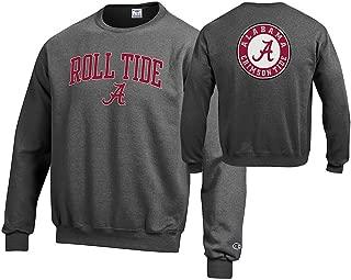 Elite Fan Shop NCAA Men's Front/Back Dark Heather Crew Sweatshirt