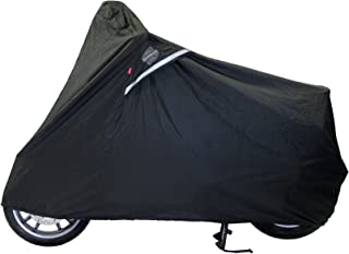 Dowco WeatherAll Plus Indoor/Outdoor Waterproof Motorcycle Cover: Black, Large Scooter