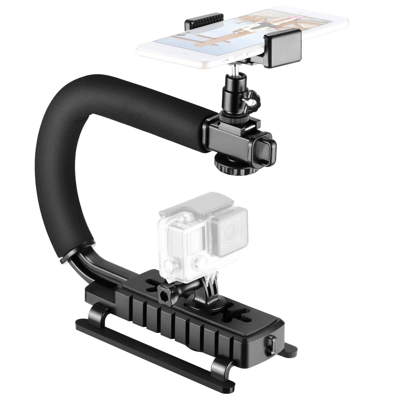 Neewer 4 合 1 C 形吊架手持稳定器适用于智能手机、运动相机、摄像机、数码单反相机,兼容尼康 Canon 索尼 GoPro 6 5