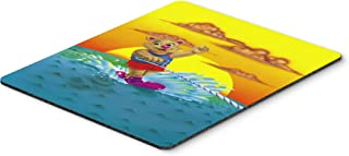 Caroline's Treasures APH0415MP Teddy Bear Water Skiing Mouse Pad, Hot Pad or Trivet, Large, Multicolor
