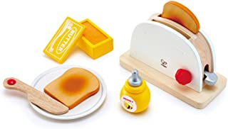 Hape E3148 Pop-Up Toaster Wooden Kitchen Playset (7 Piece),One Size,Multicolor