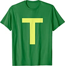 Chipmunk Halloween Carnival Group Costume Letter T Shirt