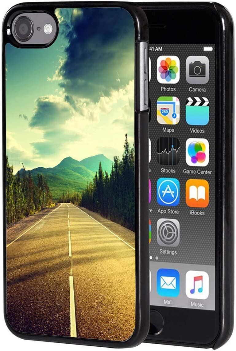 iPod Touch 6 case Road Scenery Anti-Scratch Black Fashionable ...
