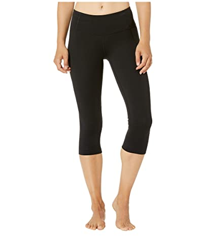 Bloch Fifi Suprima Mid-Rise 3/4 Leggings (Black) Women