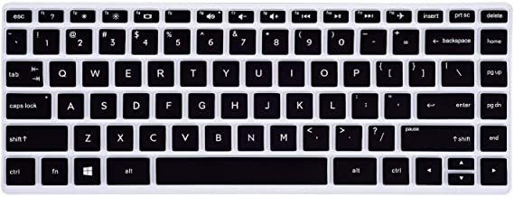 Saco Chiclet Keyboard Skin for HP Pavilion x360 14-ba075TX 14-inch Laptop-(Black with Clear)