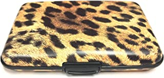 Fig Design Group Leopard Print RFID Secure Data Theft Protection Credit Card Armored Wallet New