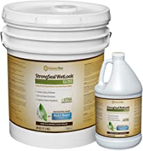 StrongSeal Wetlook Paver Sealer Joint-Sand Stabilizer for Brick Pavers, Concrete, Natural Stone (5 Gal - Prof Grade (2) Part Kit)