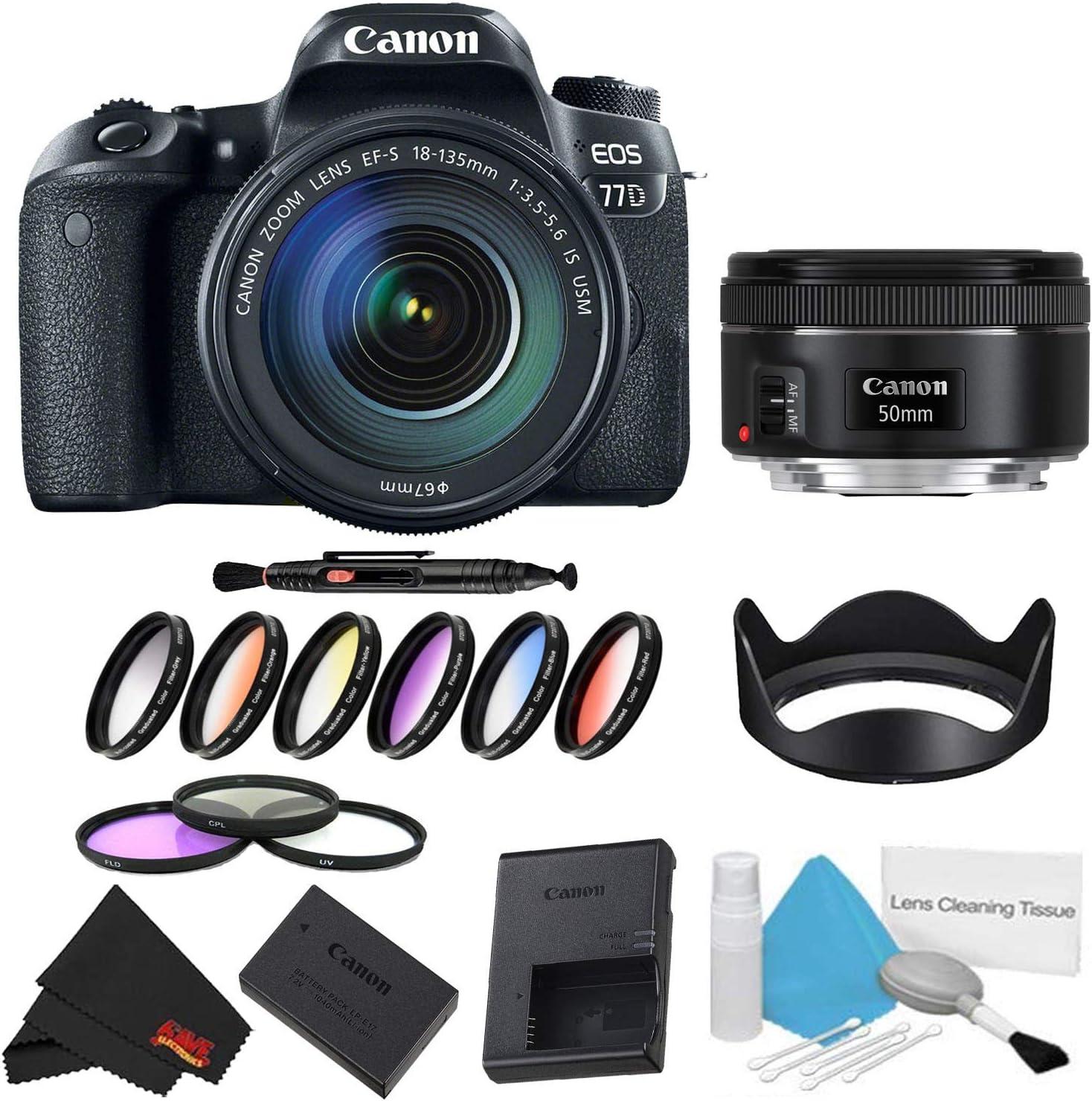 Canon EOS 77D DSLR Camera with 18-135mm Cheap SALE Start w Lens Bundle Piece F OFFicial site 9