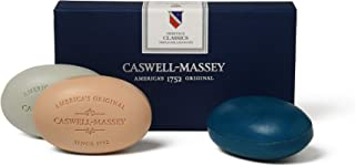 Caswell-Massey Triple Milled Luxury Bath Soap Men's Classics Soap Set – 3 Assorted Fragrances – 5.8 Ounces Each, 3 Bars