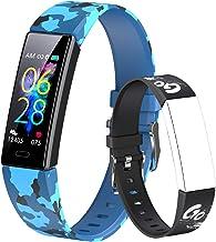 Dwfit Fitnesstracker, smartwatch, voor kinderen en meisjes, stappenteller, smartwatch, activiteitstracker, waterdicht, spo...