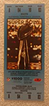 Super Bowl XLIV (2010) - Replica Game Ticket with Rigid Holder - New Orleans Saints vs Indianapolis Colts