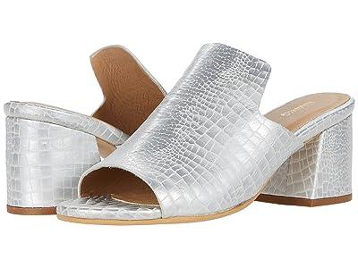 KAANAS York Croc-Embossed Loafer Heel (Silver) Women