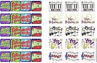 Just4fun 240 Music Success Stickers - Musical Performance Arts - Theatre - Bravo! - Teacher Motivational Rewards Education...