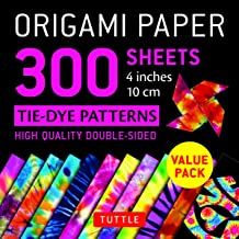 "Origami Paper 300 sheets: Tie-Dye Patterns 4"" (10 cm)"