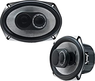 Earthquake Sound VTEK-693 700W 6x9-inch 3-Way Coaxial Speakers with PistonMax Technology (Pair)