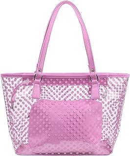 MICOM Cute Neno Candy Color Polka Dot Clear Bags Beach Tote Shoulder Handbag