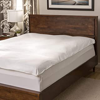 National Sleep Products Super Snooze 5-inch 230 Thread Count Baffled White Featherbed Set Queen