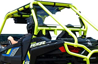 SuperATV Heavy Duty Clear Rear Windshield for Polaris RZR 900/900 XC / 900 S / 900 Trail (2015+) - Not Scratch Resistant - Easy to Install!