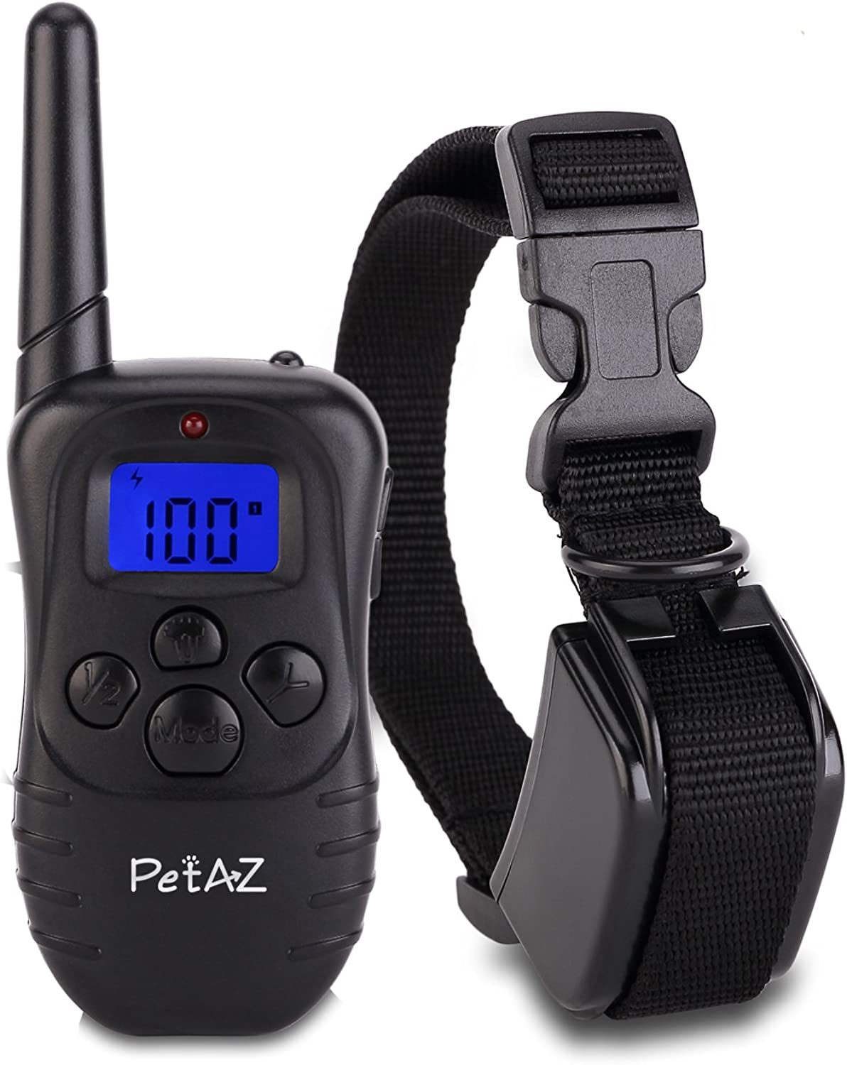 PetAZ Dog Training Collar With Remote Rechargeable & Rainproof LCD Screen 330 Yard Beep Vibration Shock Electric Train Collars For Small,Medium,Large Pets&Dogs